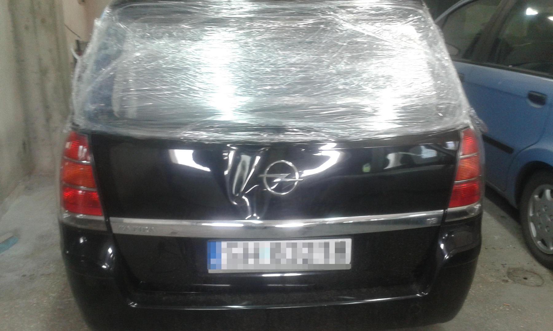Blacharstwo Chorzów - Opel Zafira przed naprawą